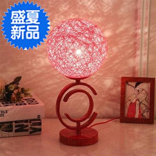 大红喜◆新品◆庆床头结婚粉红色装饰台灯卧室婚房婚庆少女一对长