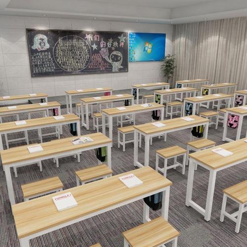学校学生课桌椅双层课桌辅导班培训桌书法绘画桌书桌