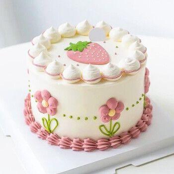 食锦谣网红创意4寸定制迷你生日蛋糕新鲜现做全国哈尔滨长春天津同城