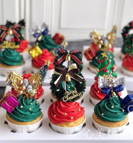 圣诞节仿真蛋糕模型甜品台装饰场景布置 圣诞节饰品