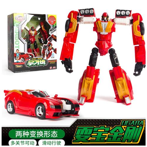 咖宝车神玩具精装版耍宝金刚变形机器人跑车男孩玩具