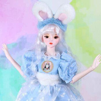 德必胜芭比娃娃套装大礼盒bjd娃娃大号巴比公主洋娃娃
