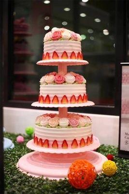 店铺摆设宝宝周岁组合现代典8层架子6层3层蛋糕支架