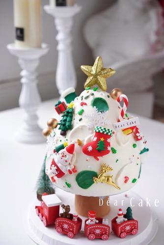 【0615】缤纷白色圣诞树生日蛋糕-请务必提前24小时预订  此款产品用