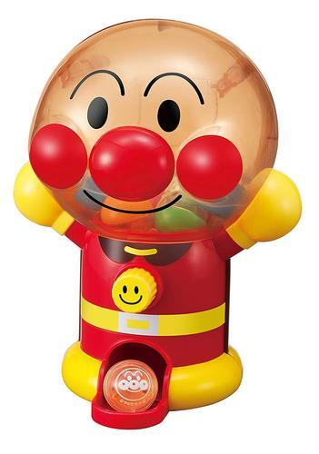 现货日本进口面包超人迷你夹扭蛋糖果小型家用游戏机儿童礼物玩具