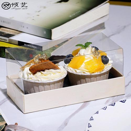 毛巾卷包装盒一次性蛋糕卷木透明杯子蛋糕盒慕斯西点盒网红甜品盒