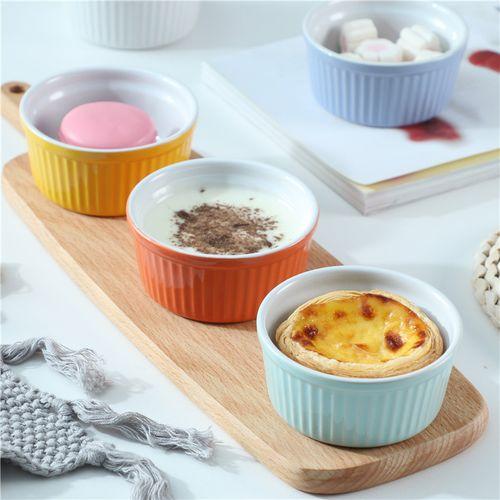 舒芙蕾烤碗烘焙甜品果冻布丁可爱陶瓷碗蒸蛋双皮奶碗家用烘焙模具