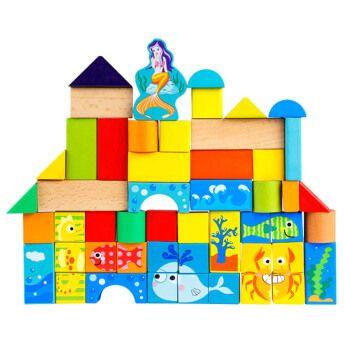 一点儿童大颗粒方块积木玩具女孩益智拼装拼插木质积木小孩木制木头