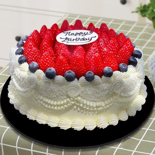 轩和仿真蛋糕模型 欧式草莓奶油水果蛋糕模型 开业