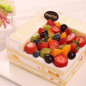 面包新语(breadtalk)水果蛋糕 真多丽果方形8英寸 鲜果蛋糕 水果生日