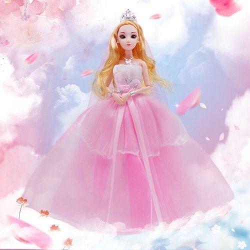 e会唱歌的智能芭比娃娃冰雪公主娃娃换装芭比礼盒女孩
