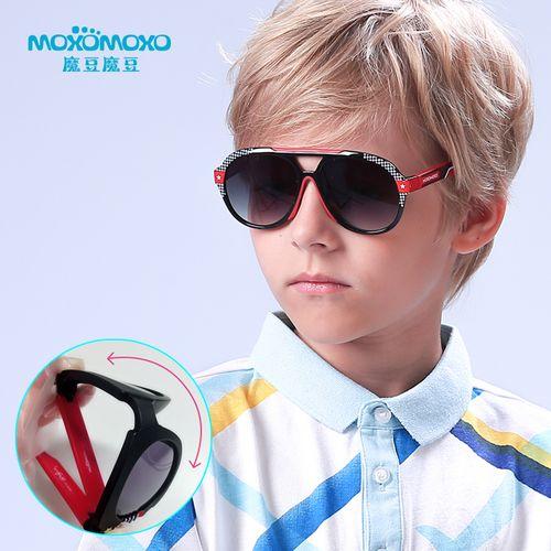 儿童太阳镜男童墨镜防紫外线眼镜小孩宝宝防晒防蓝光儿童蛤蟆镜潮