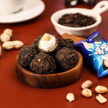 网红爆浆曲奇小丸子盒装爆浆夹心巧克力零食年货糖果 5粒散装试吃