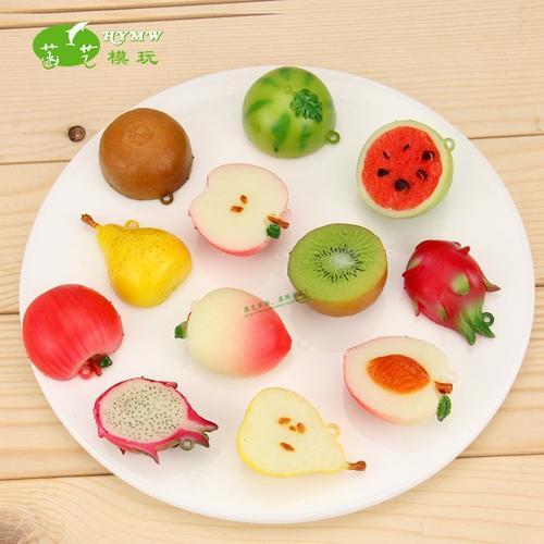 拼盘柠檬片水果酒水片橙子杨桃切片仿真假模型片苹果蛋糕西瓜草莓