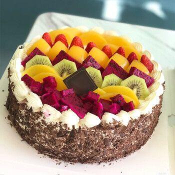送父母长辈生日礼物网红定制全国同城配送当日送达 层层水果-巧克力款
