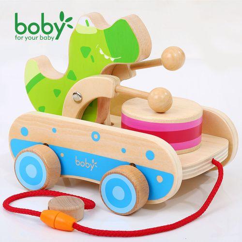 6个月以上18个月宝宝益智玩具敲鼓车学步车1-2岁女孩
