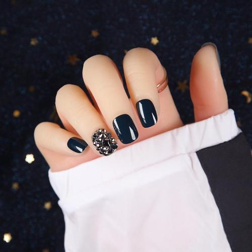 矿银色钻甲片成品纽约风暴美甲贴成品穿戴超闪日式假指甲贴片 s489