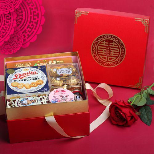 中国风喜糖礼盒成品含糖混合装高档结婚回礼伴娘伴手