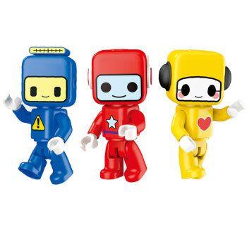 百变布鲁可可爱公仔布鲁克小队玩具人偶可动儿童大颗粒积木3-5岁品质