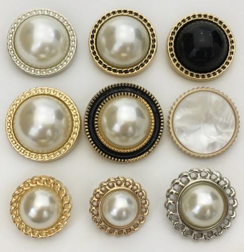 珍珠纽扣子大号高档小香风毛呢衣服装饰配件圆形白色