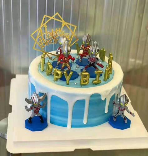 仿真蛋糕模型2021新款创意卡通奥特曼儿童生日蛋糕