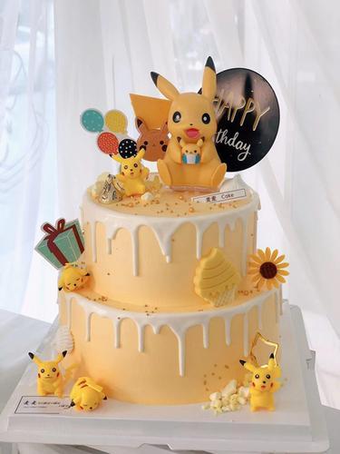 创意卡通蛋糕装饰生日蛋糕摆件可爱卡通甜品台烘焙