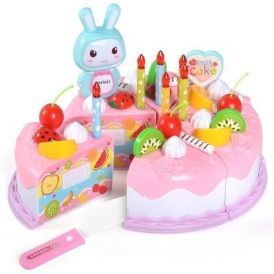 水果玩具过家家看过仿真儿童玩具家家切切切切小女孩生日蛋糕乐