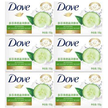 多芬柔肤乳霜香块单块装100g*3块特惠装清透盈润香皂黄瓜绿茶香氛保湿