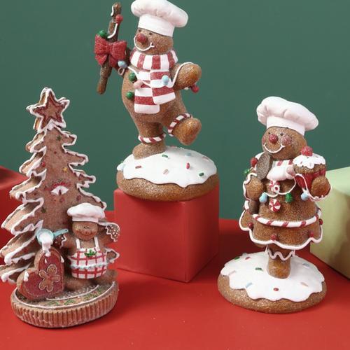 诞装饰品橱窗布置摆件爱圣诞树饼干姜饼人圣圣诞节小