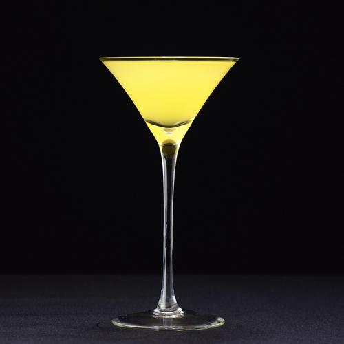 酒吧鸡尾酒杯无铅水晶玻璃歪边三角鸡尾酒杯三角杯