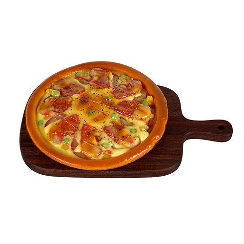 仿真食物烤培根牛肉海鲜披萨pizza模型茶餐厅橱展示