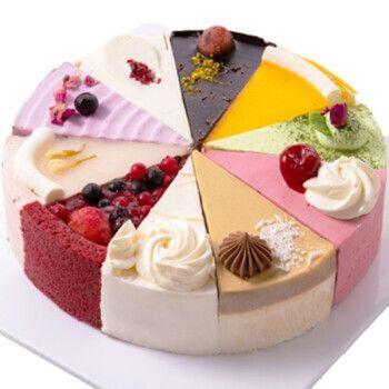 麦巧园十拼慕斯蛋糕8寸 十种口味冰淇淋口感冷冻蛋糕