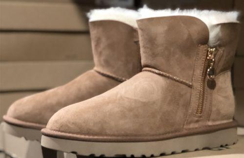 羊皮毛一体msinɡugg女经典靴休闲迷你贝莉拉链短筒雪地靴1112481