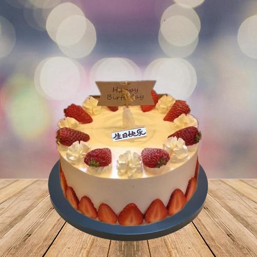 仿真水果蛋糕模型仿真蛋糕 生日蛋糕模型 草莓蛋糕模型 蛋糕样品