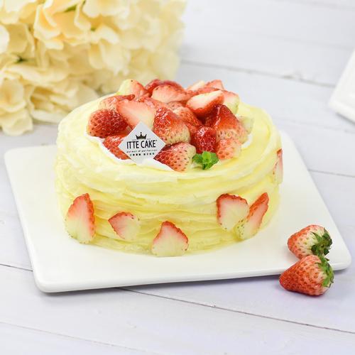 【草莓千层】新鲜草莓奶油水果生日蛋糕下午茶