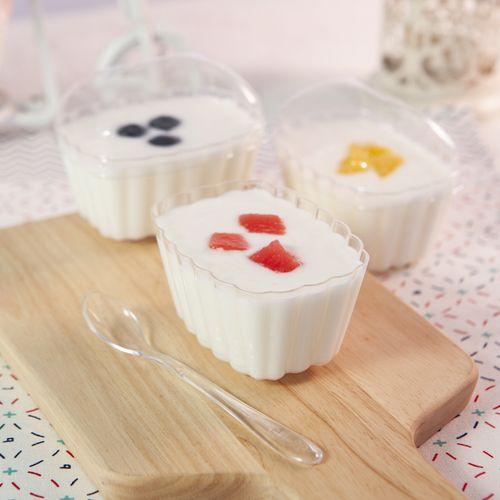 慕斯杯布丁杯冰淇淋杯酸奶杯硬塑料一次性杯子创意透明果冻杯带盖