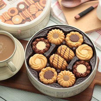 日本进口曲奇饼干什锦奶油巧克力布尔本网红休闲零食生日礼物礼盒 红