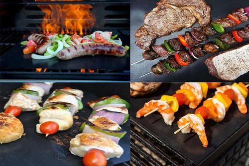 烧烤耐高温烤箱户外垫不粘bbq烧烤垫烤盘垫烘焙烤肉垫