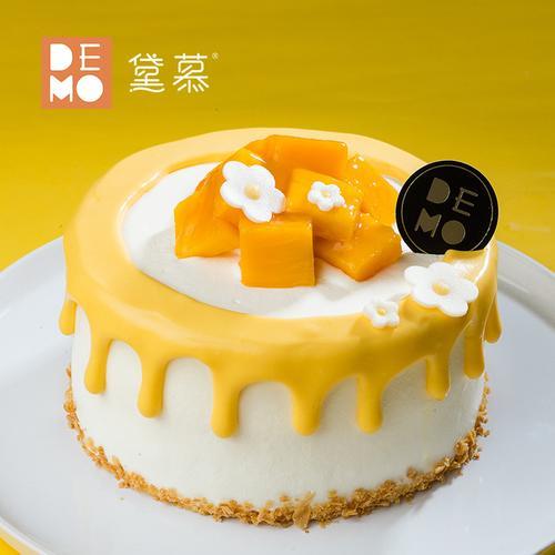 demo黛慕 芒果优格·芒果酸奶油蛋糕 水果奶油生日庆祝 南宁同城