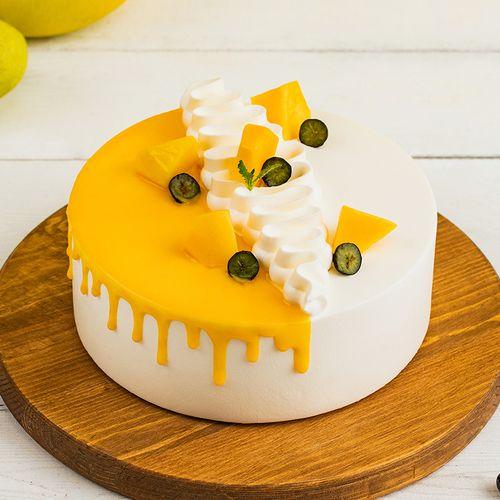 【潜江 芒芒夏日】海盐奶酥和芒果奶油包裹戚风蛋糕,松软香甜,酥脆
