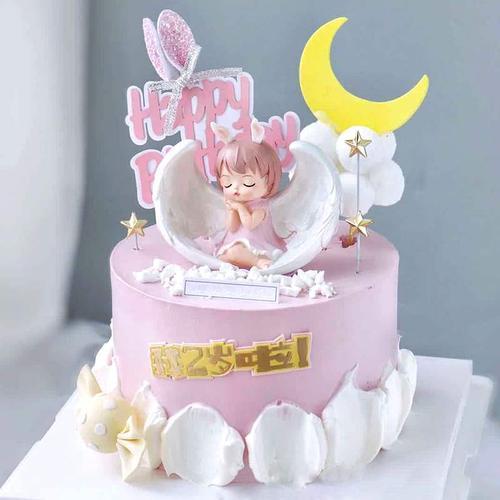 可爱睡娃娃安妮宝贝烘焙祈祷天使配件宝宝蛋糕用生日