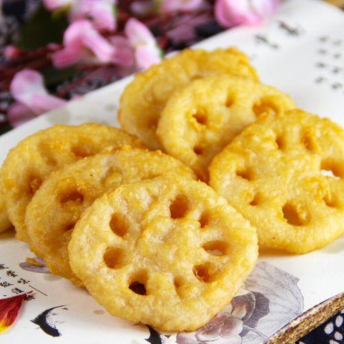 油炸传统肉藕夹冷冻酒店餐饮食材半成品脆饼藕 2斤