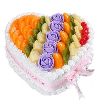 芙瑞多 心形水果蛋糕10寸当日送达生日蛋糕新鲜制作送