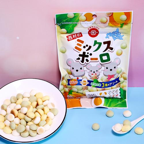 日本西村小馒头混合口味小馒头宝宝辅食磨牙饼干幼儿