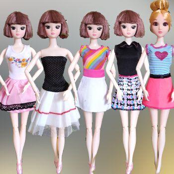 芭比娃娃的衣服和鞋子儿童玩具尚美比芭比娃娃的衣服和鞋子换装洋娃娃