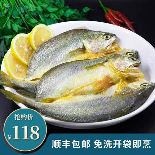 黄鱼鲞干大黄花鱼干咸鱼醇香脱脂腌制小黄鱼冷冻黄瓜鱼250g*5条