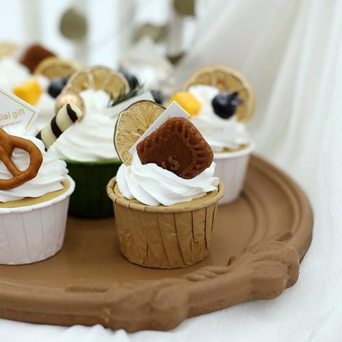 仿真纸杯蛋糕 甜品台甜点模型道具 婚庆摆台用品 橱窗