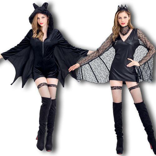 新款万圣节成人服装女 性感蝙蝠化妆舞会服装猫女郎蜘蛛精演出服