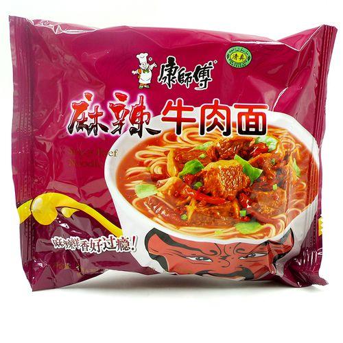 康师傅麻辣牛肉面 清真食品方便面袋装泡面100克 满24