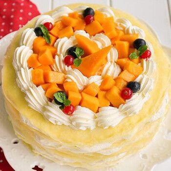 蛋糕千层慕斯预定儿童卡通上海广州同城配送 千层榴莲蛋糕 6寸